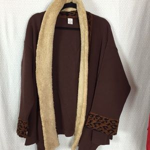 Vintage Kenzo Brown Jacket Cheetah Sleeves